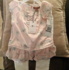 NWT 7 for all mankind toddler girls outfit